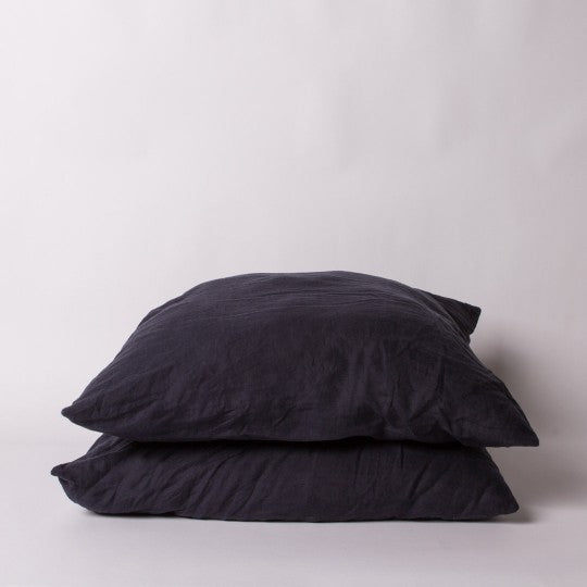 Luxe Linen Cushion Covers in Ink Navy - Set of 2