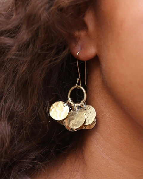 hamimi brass disc earrings moroccan