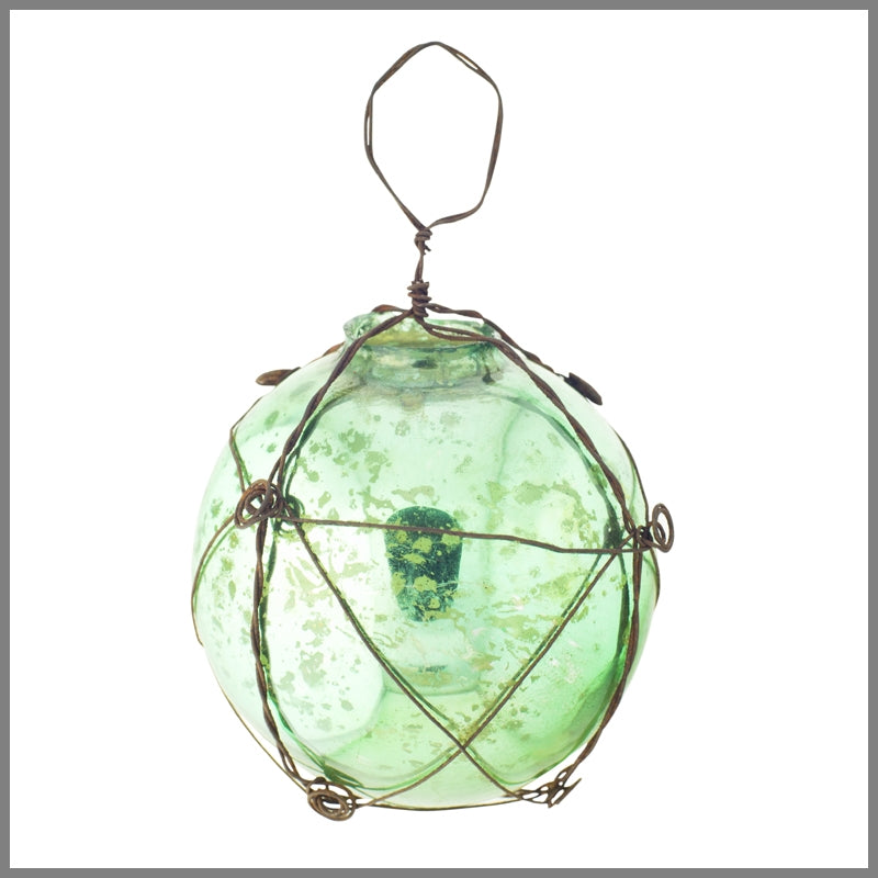 Green Mercury Ball with Wire - 8cm