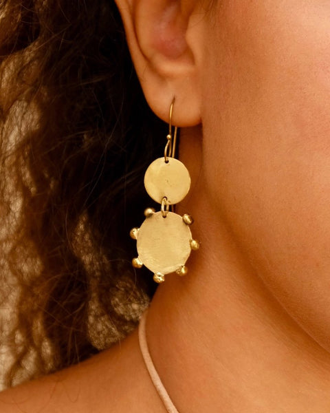 Double Disc Earrings | Handmade