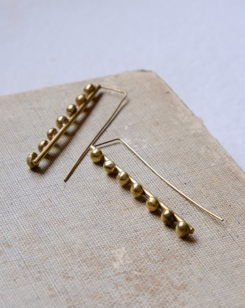 Hebba Line Brass Earrings