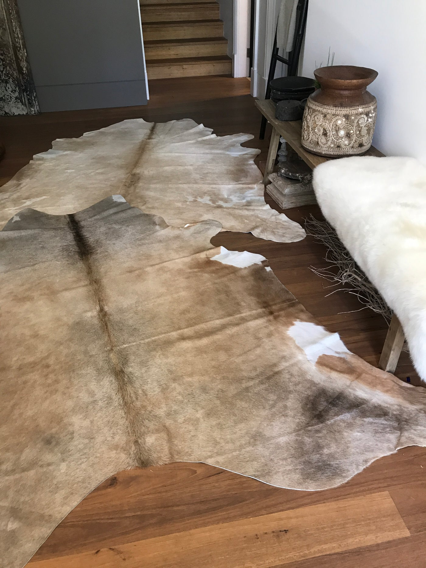 light brown caramel sustainable cowhide