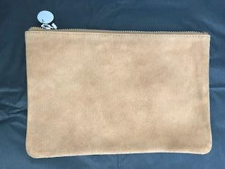 cloth & co Camel Suede Clutch