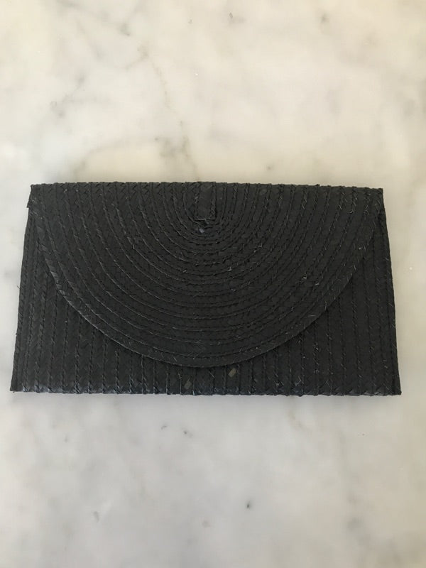 Rattan Clutch in Black