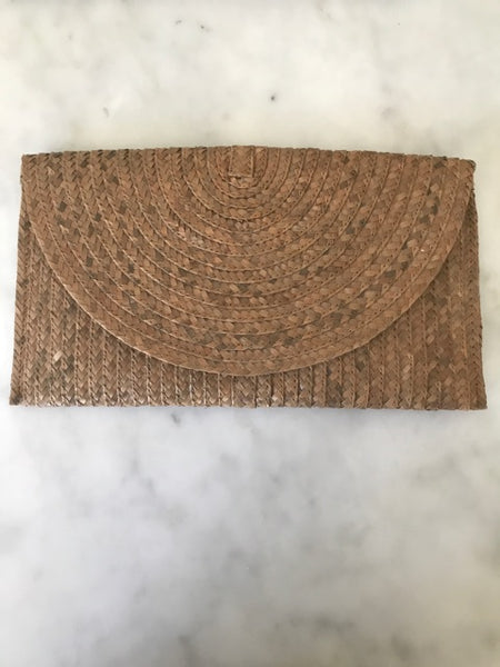 Rattan Clutch in Natural Tan