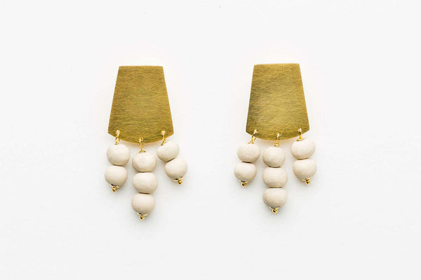 Kali Short Shield Earrings