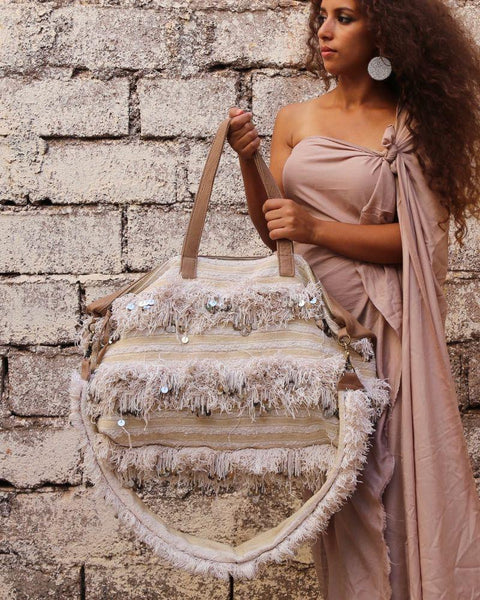 Khenifra Overnight Bag in White