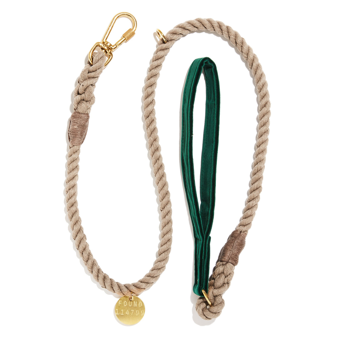 Emerald Washable Velvet Animal Leash
