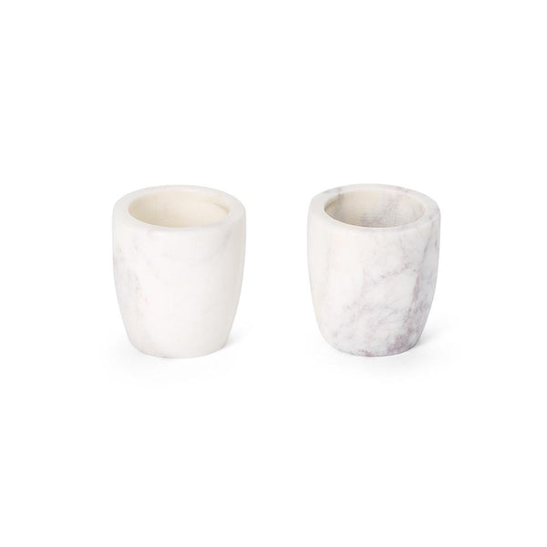 white marble egg cup votive