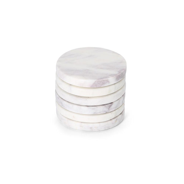 Round Coaster (set of 6) Marble