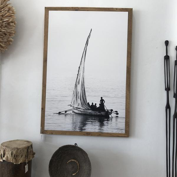 Mozambique Dhow Stretched Canvas 180x120 Framed
