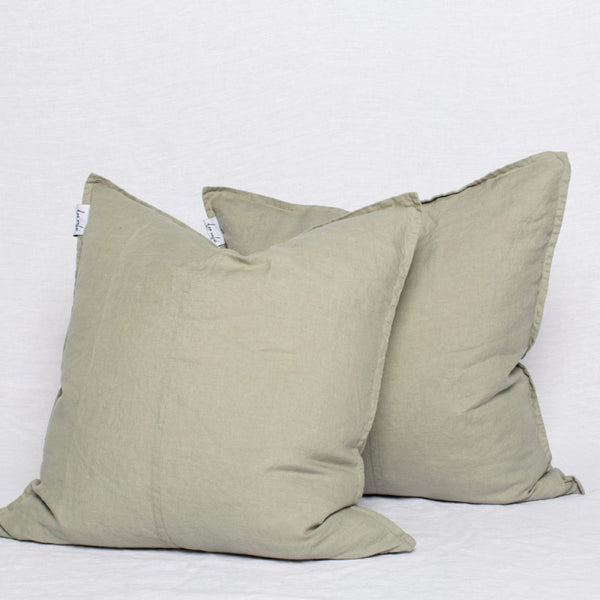 Linen Scatter Cushion Covers in Pumice - Set of 2