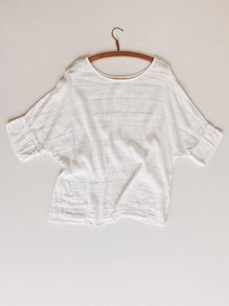 Riva Tee - Soft White Lithuanian Linen