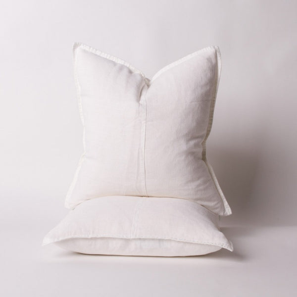 Linen Scatter Cushion Covers in White - Set of 2