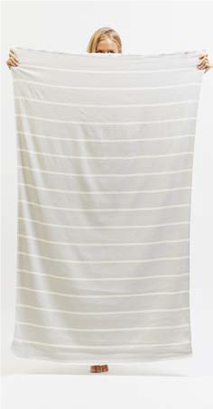 Sugarloop Beach Towel in Ash