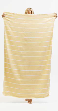 Sugarloop Beach Towel in Lemon