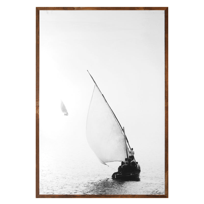 Sail Boat West Africa Print by David Ballam