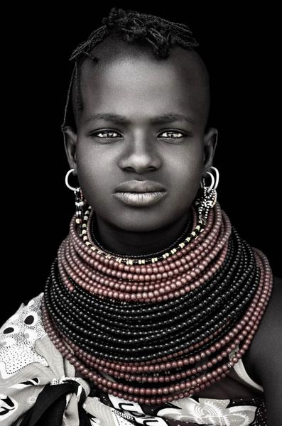 Turkana Girl - David Ballam Photography Stretched Canvas (no frame) 180 x 120cm