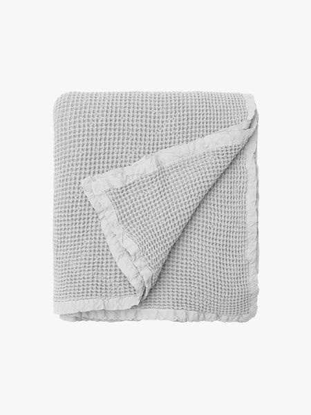 Large Waffle Blanket Silver