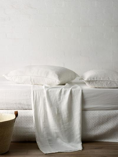 Mondo Linen QB Sheet Set in White