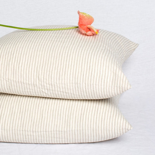 Natural Stripe Euro Cushions