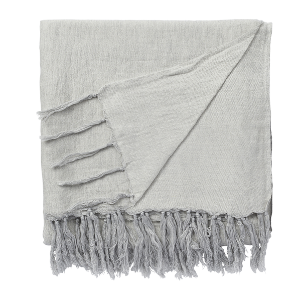 Isola Linen/Cotton Throw Rug in Cloud