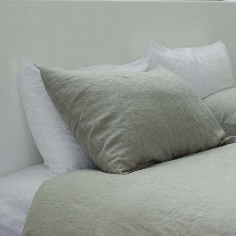 Linen Pillow Case Set | Pumice
