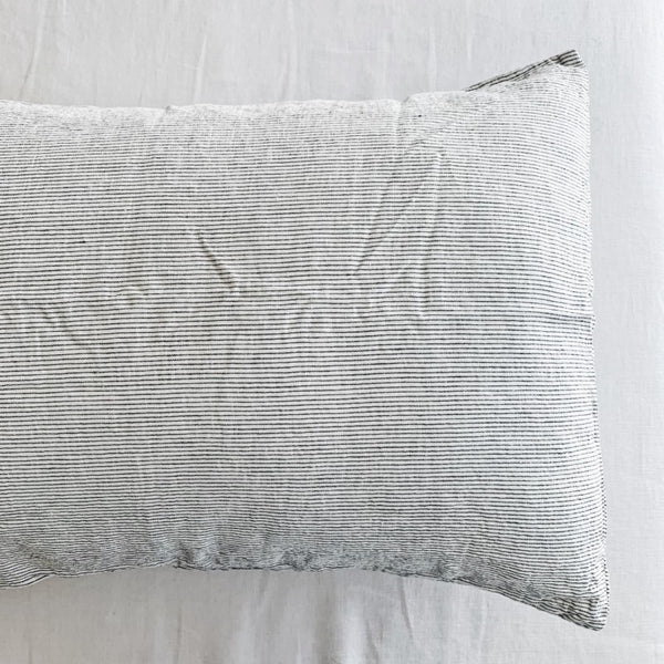 Linen Pillow Case Set | Pin Stripe