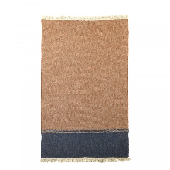 Jules Throw Blanket 130 x 220 Rust Herringbone