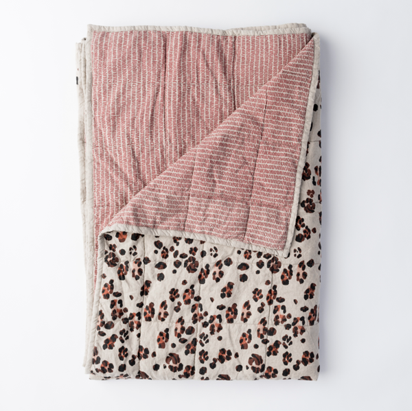 Society of Wanderers | Double Side Quilt | Leopard and Wiggles