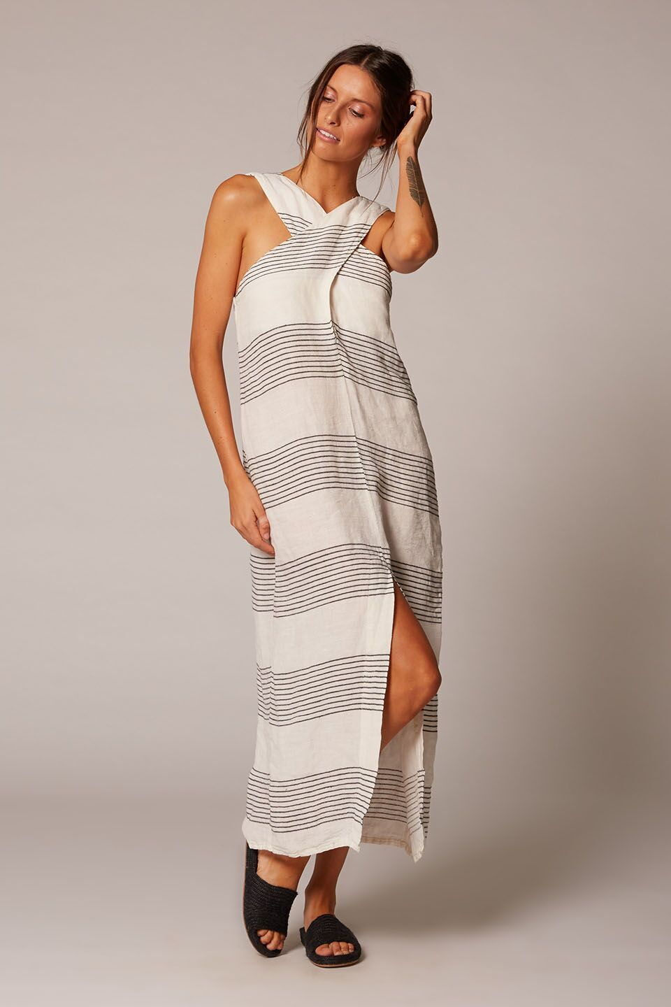 Estilo Emporio | Lola Linen Dress | Stripe