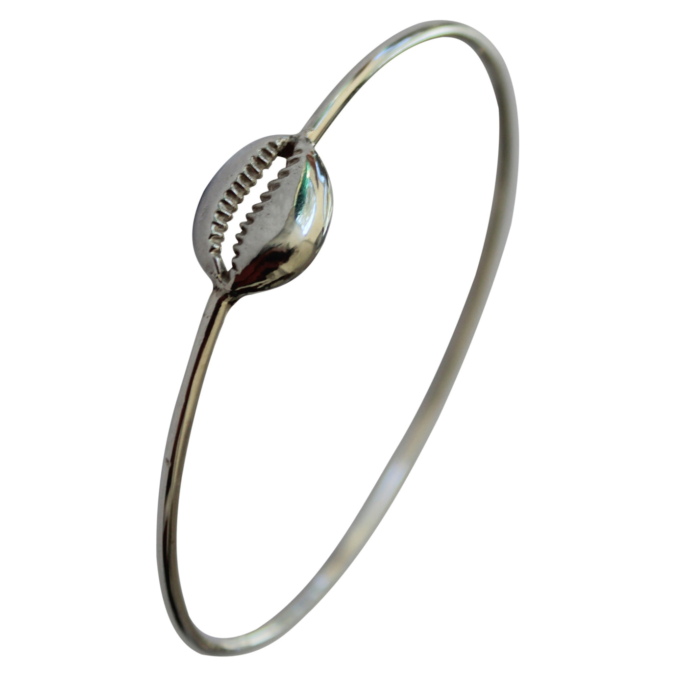 Cast Cowrie Bangle | Silver