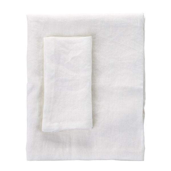 White Linen Medium Tablecloth - 150x220cm