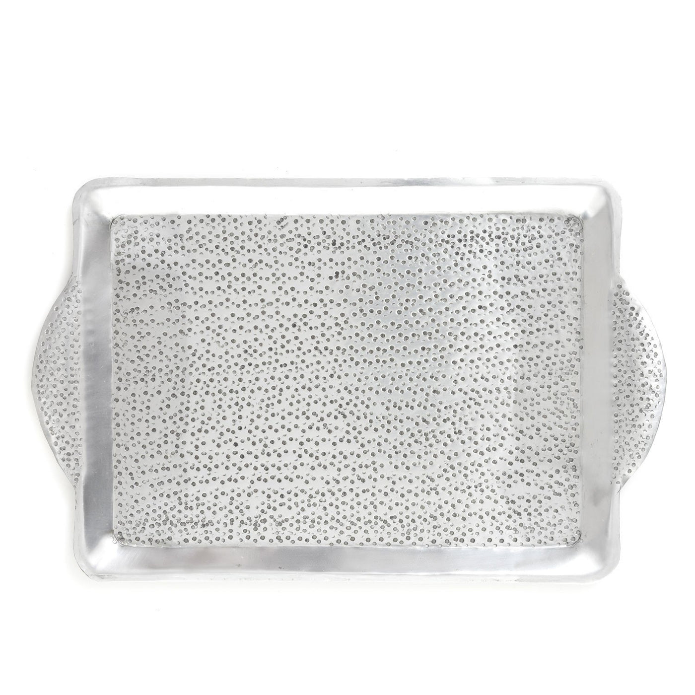 Rectangular Silver Aluminium Serving Tray - 30x47cm