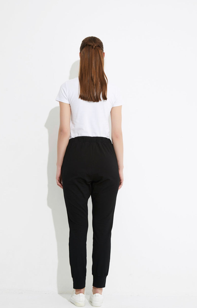 Drawcord Lounge Pant - Black