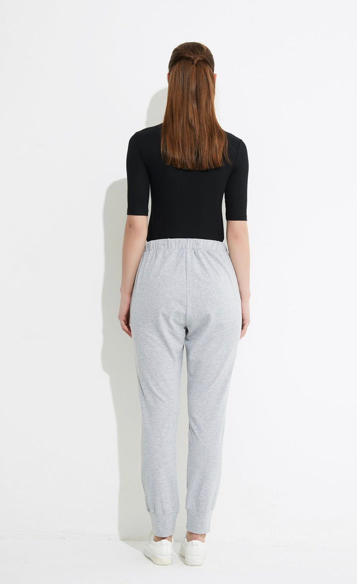 Drawcord Loung Pant - Grey Marle