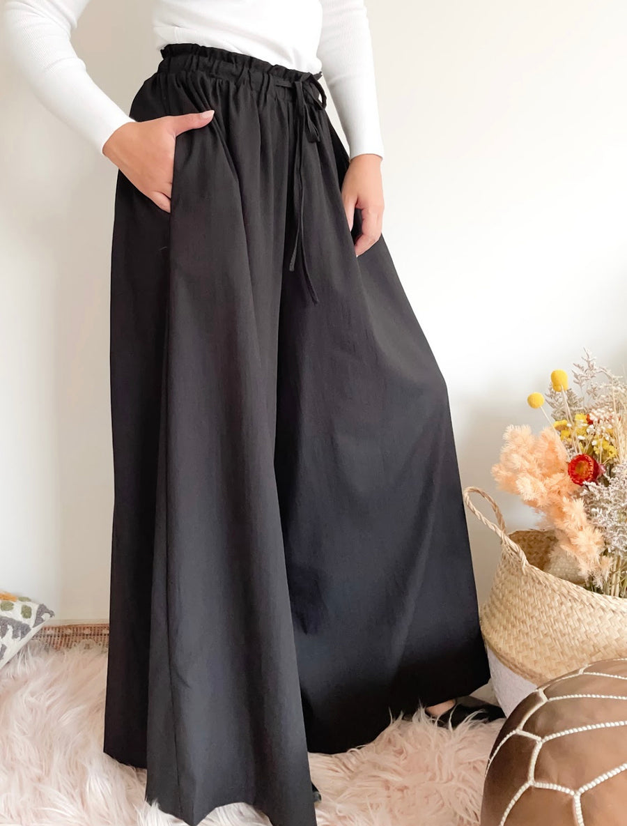 Tilly Wide Leg Pants - Black