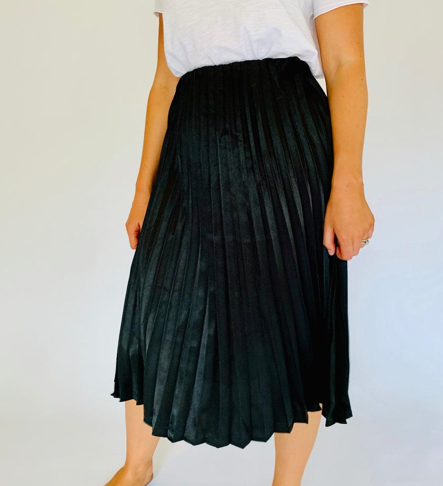 Midnight Satin Skirt