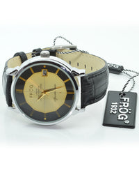 GEMINI Black 43 mm Leather Watch