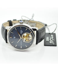 FV34 NAVY LEATHER 42 mm