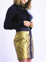 Golden puffer skirt