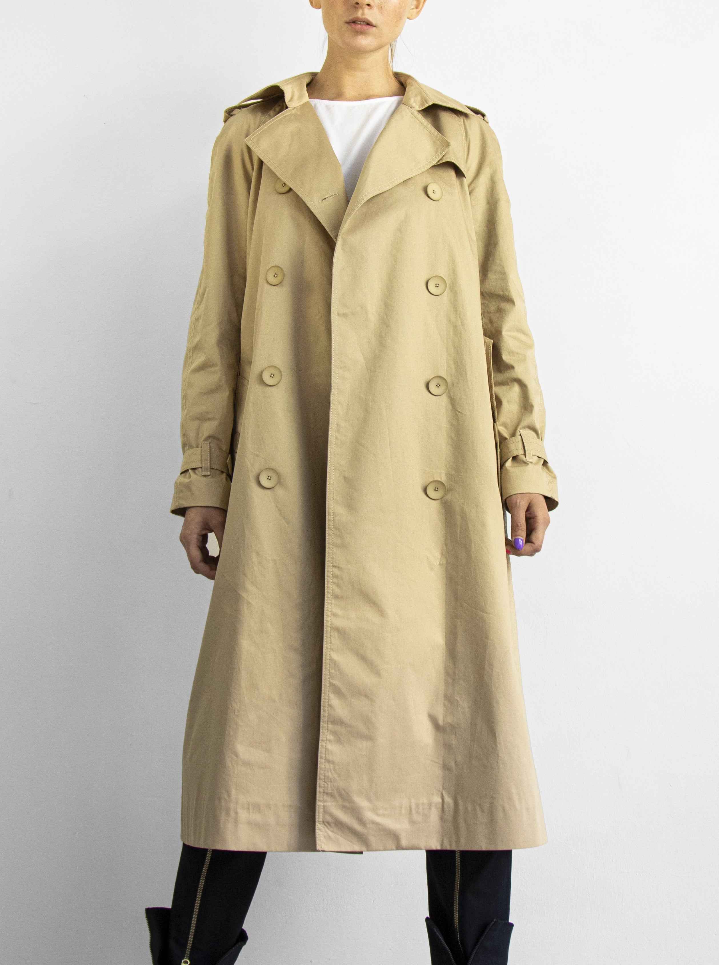 Long Beige Trench coat