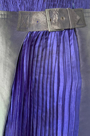 Orisha pleated asymmetric skirt
