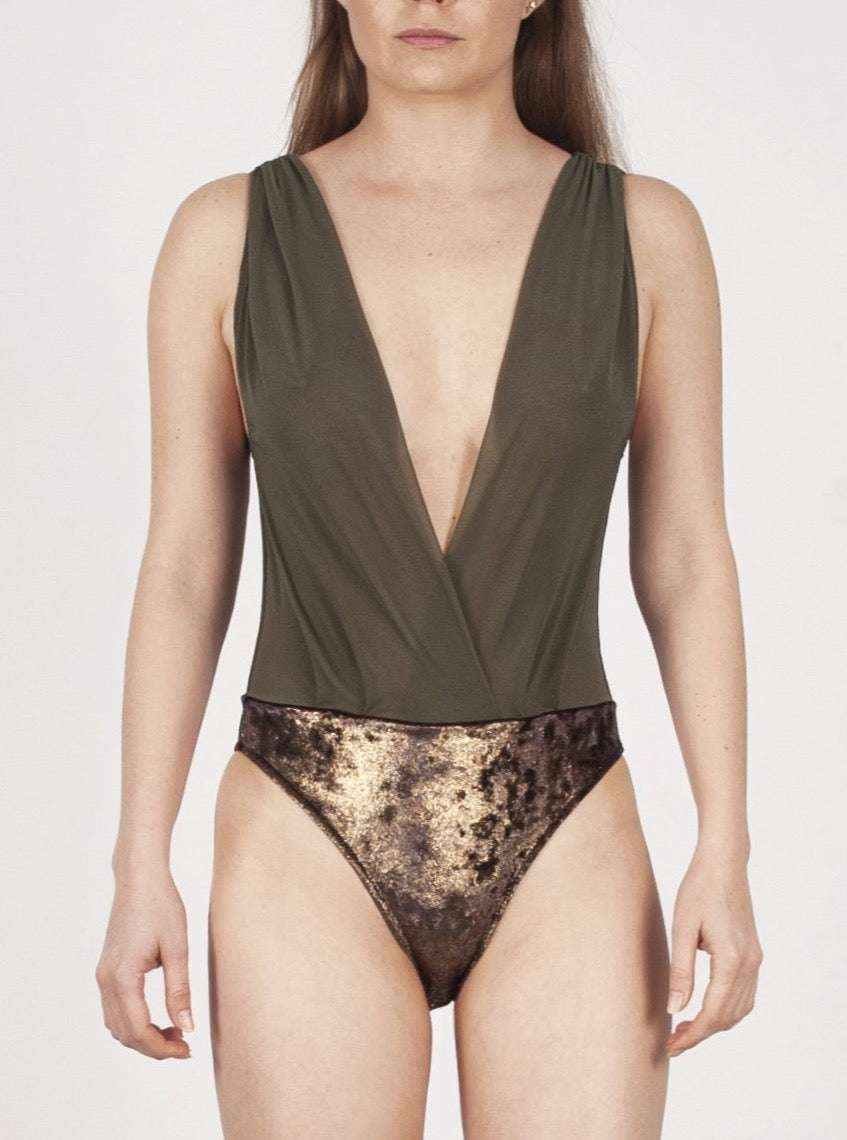 St Barth military bodysuit