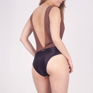 St Lucia brown bodysuit