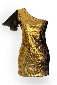 Sequinned mini dress