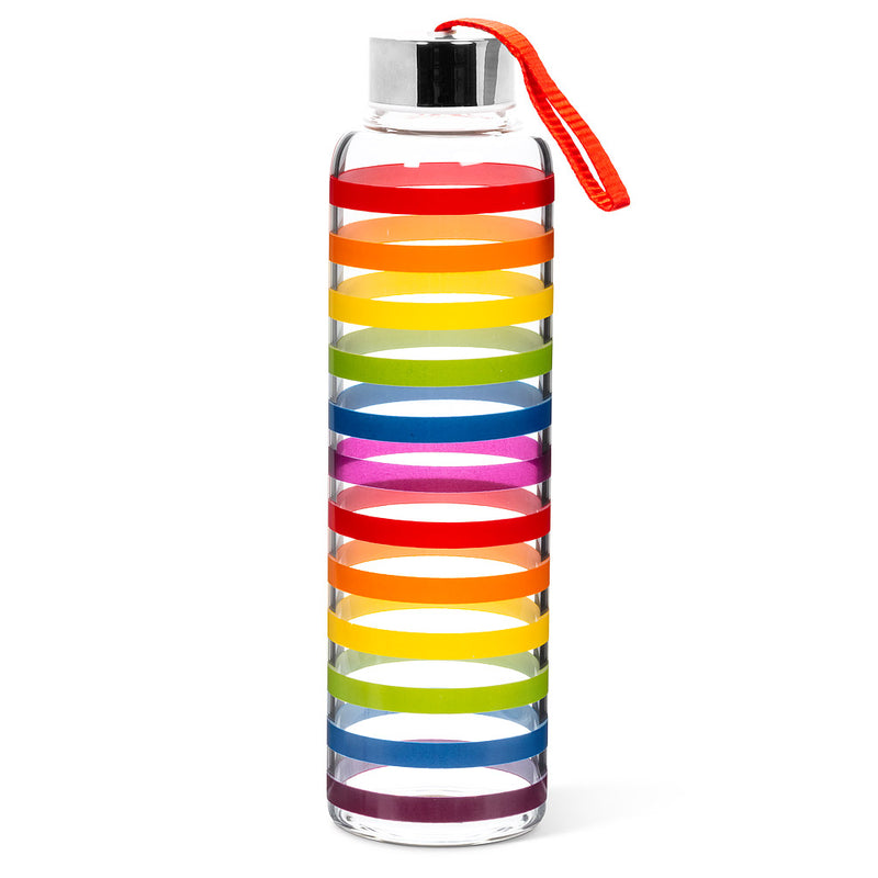 Rainbow Glass Bottle