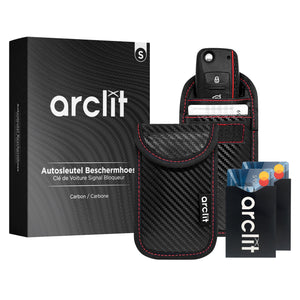Arclit® Keyless Entry Autosleutel Anti-Diefstal RFID Beschermhoes - Carbon - Maat S
