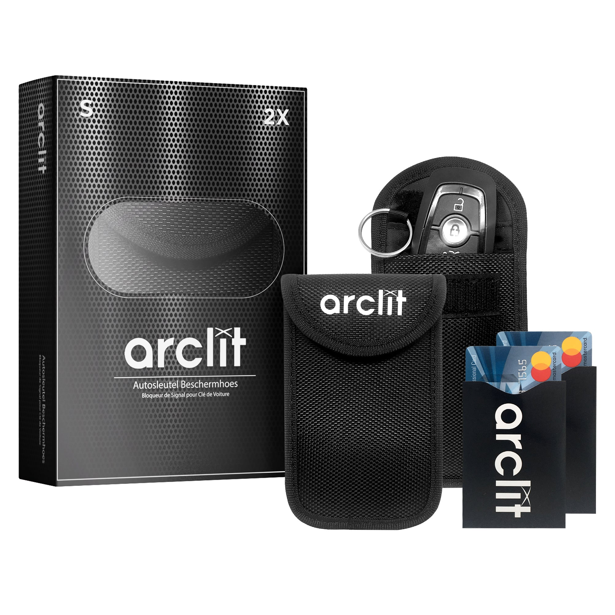 Arclit® Keyless Entry Autosleutel Anti-Diefstal RFID Beschermhoes - Maat S