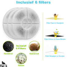 Pet-it Drinkfontein filters 6 Stuks